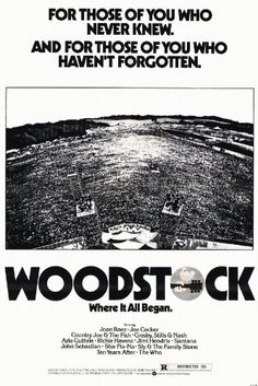 Woodstock Poster, Woodstock Hippies, Woodstock Festival, Beatles, John Sebastian, Vintage Concert Posters, The Family Stone, Joan Baez, Musica