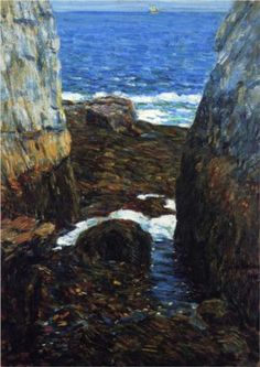 The North Gorge, Appledore, Isles of Shoals - Childe Hassam