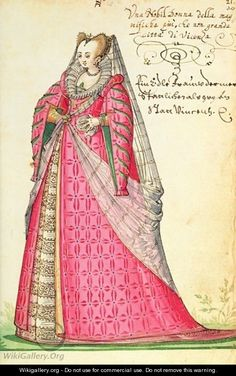 Noble Lady from Vincenza from Kippells Costume Book  by Niclauss Kippell