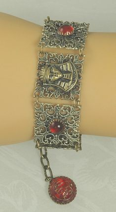 Check out the deal on Lovely EGYPTIAN REVIVAL ART DECO Filigree Bracelet at Amazing Adornments