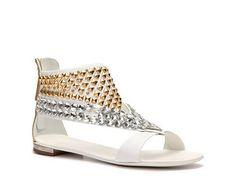 Giuseppe Zanotti Leather Studded Flat Sandal  Item # 280844  UPC # 450001978172  @DSW Designer Shoe Warehouse  @W magazine