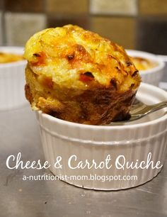 Journal of a nutritionist mom : Crustless cheese and carrot quiche (Gluten free)