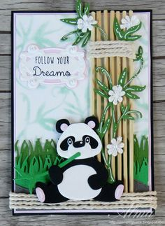 Marianne Design collectable CR1309 Eline's Panda and Bear