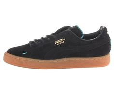 PUMA Suede Classic Crafted Black/Bluebird - 6pm.com
