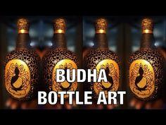 Plastic Bottle Art, Wine Bottle Art, Glass Bottle Crafts, Old Liquor Bottles, Diy Glasses, Painted Glass Bottles, Glass Painting Designs, Family Wood Signs, Bottle Painting