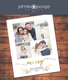 4 photo fancy gold foil holiday card digital design 4x6 5x7 and costco 6x75 - Costco Holiday Cards