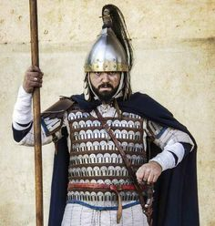 Cavalieri de li Terre Tarentine. Davide Mele portrays an infantry officer of the XI century.