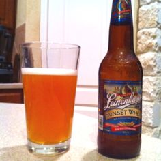 Leinenkugel's Sunset Wheat...my wife really liked this one!