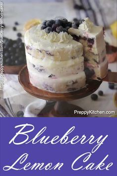 The best blueberry lemon cake is easy to bake preppykitchen blueberry lemon cake bestcakes blueberrycake lemoncake desserts moist lemon cake Easy Cheesecake Recipes, Best Cake Recipes, Easy Cookie Recipes, Baking Recipes, Lemon Cake Recipes, Smash Cake Recipes, Summer Dessert Recipes, Cheesecake Bites, Healthy Recipes