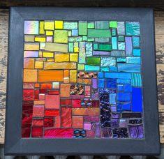 Rainbow Squared Mosaic for Your Wall Mosaic Glass, Glass Art, Love The Earth, Rainbow Connection, Color Names, Color Theory, Painting On Wood, Rainbow Colors, Scrappy Quilts