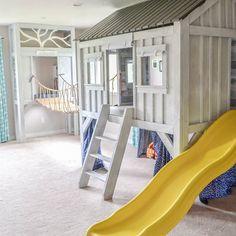 #playhouse #cabin #diy #playroom #ropebridge