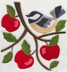 Machine Embroidery Designs at Embroidery Library! - Autumn Birds and Butterflies
