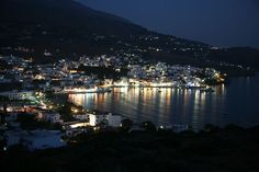 Batsi by night, Andros Greece Mykonos, Santorini, Andros Greece, Greek Beauty, Secluded Beach, Greece Islands, Ultimate Travel, Travel Around, San Francisco Skyline