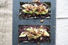 spicy avocado + crunchy shallot nori wraps with purple sticky rice - what's cooking good looking - a healthy, seasonal, tasty food and recipe journal