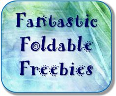 Corkboard Connections: Fantastic Foldable Freebies Link Up! - the Mother Lode of foldable ideas for all ages and grades. Interactive Student Notebooks, Science Notebooks, Math Journals, Teacher Tools, Teacher Hacks, Teacher Resources, Teacher Stuff, Classroom Organization, Classroom Management