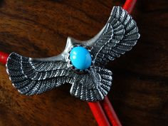 Bolo - Native american mexican jewellery - Made it from Kokopelli Guadarrama :-) Mexican Jewelry, Turquoise Necklace, Native American, Jewelry Making, Brooch, Rings, Etsy, How To Make, Jewellery