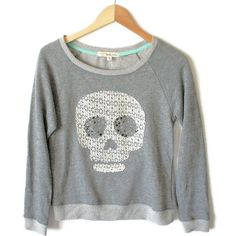 Lace Skull Lightweight Boxy Ugly Sweatshirt Sweater Shop, Ugly Sweater, Sweaters, Lace Skull, Being Ugly, Graphic Sweatshirt, Halloween, Sweatshirts, Shopping