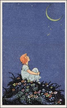 lovely card illustration by johnny gruelle, circa 1915