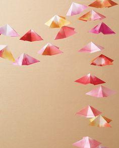 Origami Garland How-To - Martha Stewart Weddings Ceremony Arrangements