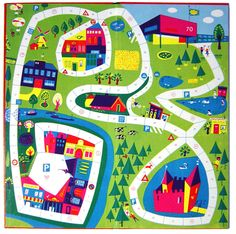 """Go Outside"" board game, 1959 (designed by Corry Mobach) Mazes For Kids, Art For Kids, Maze Book, Board Game Design, Board Games, Game Boards, Preschool Art, Candyland, Applique"