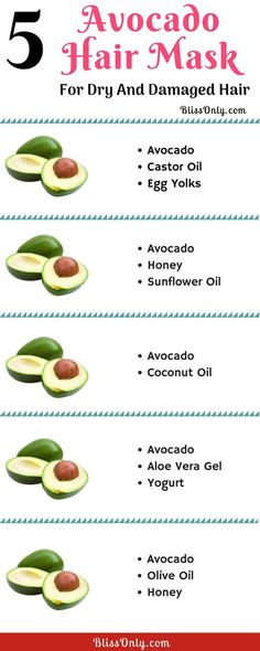 5 Avocado Hair Mask For Dry And Damaged Hair - BlissOnly
