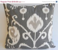 SPRING SALE Ikat decorative throw pillow cover by ThePillowPeople