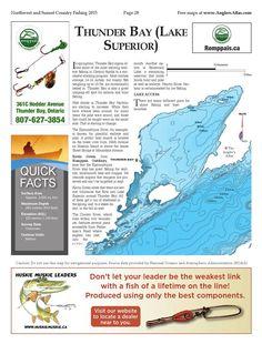 Great map of Thunder Bay on Lake Superior Fishing Maps, Ice Fishing, Bay Lake, Free Maps, Lake Superior, Thunder, Ontario, Canada