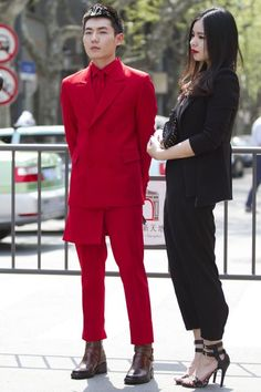 Street style at Shanghai Fashion week