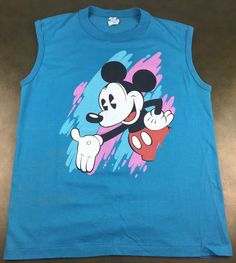 "(How did I obtain this item and what is ""Full Disclosure""? ). Incredible 80s Mickey sleeveless tee. Image: Mickey. Kinda like Wal-Mart. You're still reading!?. I hand-pick all my stuff and enjoy documenting it all. 