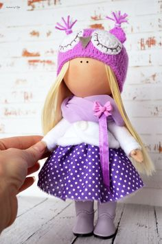 Rag doll Interior doll Home doll Art doll by AnnKirillartPlace
