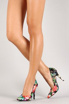 Delicious Floral Pointy Toe Stiletto Pump