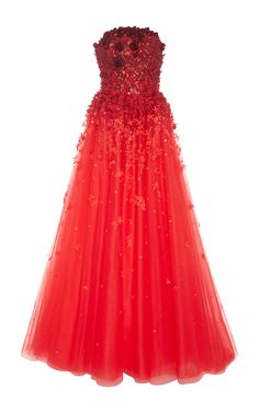 Ombre Floral Embellished Ball Gown by CAROLINA HERRERA for Preorder on Moda Operandi
