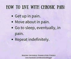 How to live with chronic pain.