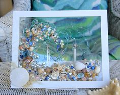 Sea Glass Art for Beach Decor Beach Glass Art of Wave made