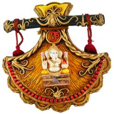 Big Design Fan Ganesha Door / Wall Hanging