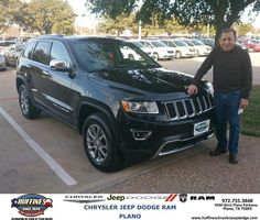 #HappyAnniversary to Arnold Campos on your 2014 #Jeep #Grand Cherokee from Bert Cox at Huffines Chrysler Jeep Dodge RAM Plano!