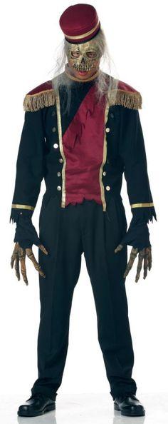 Adult Haunted Hotel Bones Bell Boy Costume