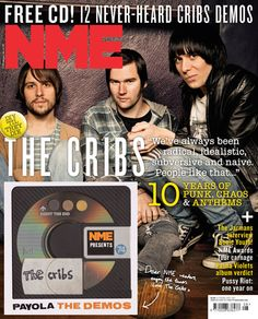 NME Magazine cover, The Cribs, February 2013 Nme Magazine, Naive, People Like, Cribs, Punk, Cover, February, Music, Cots