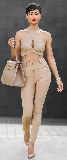 Everything Nude Chic Outfit Idea by Micah Gianneli