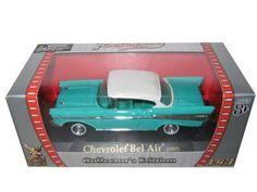 1957 Chevrolet Bel Air Diecast Car Model 1/43 Turquoise Die Cast Car by Yat Ming   ord/8.99