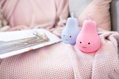 Lampki led dla dzieci Gruszki w słodkich pastelowych kolorach