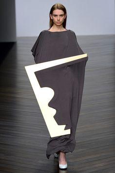Wearable Sculpture - 3D dress form; hard & soft, light & dark; fashion design juxtapositions; fashion as art // Nayoung Moon