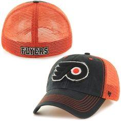745b9b861a35f Mens Philadelphia Flyers  47 Brand Black Taylor Closer Flex Hat
