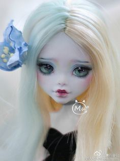 Custom Monster High Dolls, Monster Dolls, Monster High Repaint, Custom Dolls, Doll Face Paint, Doll Painting, Pretty Dolls, Beautiful Dolls, Ooak Dolls