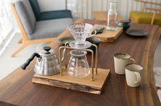 無垢板 × 真鍮のコーヒードリップスタンド、発売イベント「コーヒーを楽しむ5日間」も