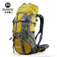 Maleroads Unisex Internal Frame Hydration Camping Hiking Travel Backpack-65L  - Free Shipping- - def69c98943ae