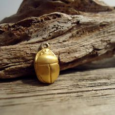 Vintage Gold Scarab Pendant/Charm by PineandMoxie on Etsy, $18.00