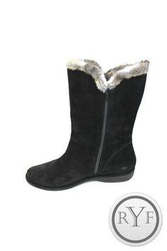 LKNW Stewart Weitzman Black Suede Faux Fur Zip Up Furlure Boots Shoes 10 M | eBay