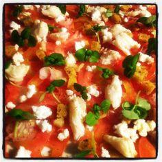 Carpaccio de tomates de notre jardin # localfood #restaurant #montreal