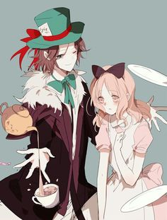 Yui and Laito in Wonderland